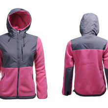 Зимняя женская флисовая куртка с капюшоном, ветронепроницаемая теплая одежда с длинным рукавом, Женская куртка-пуховик