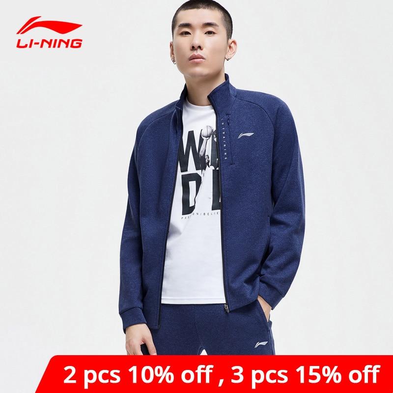 Li-Ning Men Training Hoodie Zippers Comfort 70% Cotton 30% Polyester Hooded Sweater Li Ning LiNing Sports Coat AWDP147 MWW1587