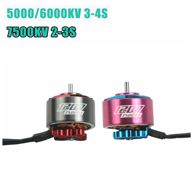 Original RCINPOWER GTS V2 1207 5000/6000KV 3-4S 7500KV 2-3S Brushless Motor for RC Drone FPV Racing Spare Parts Accessories