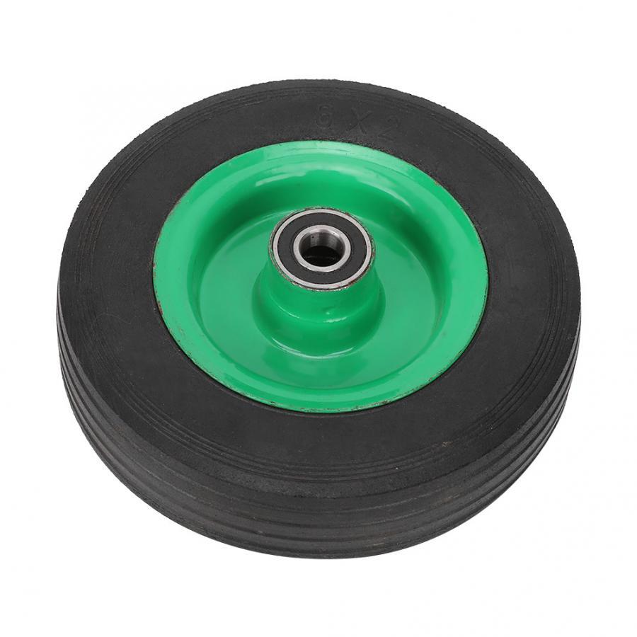 6in резиновое колесо взрывобезопасные анти-галстуком-бабочкой износостойкий анти-скольжения промышленных тележка для инструментов ролик т...