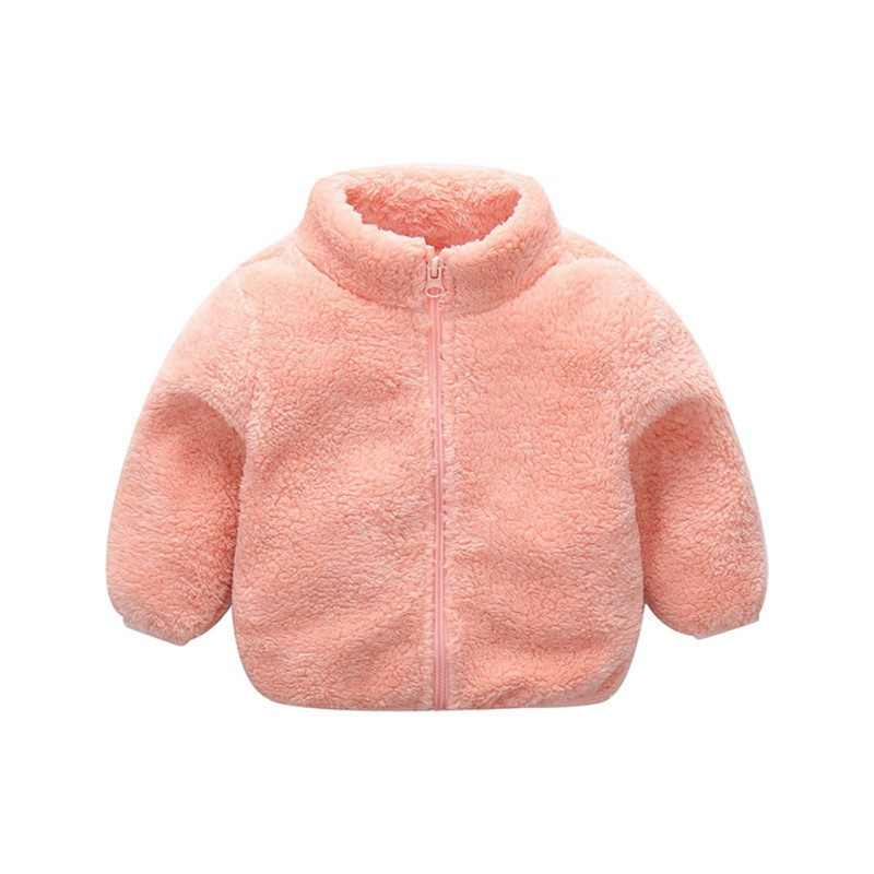 Infant Autumn Winter Boy Jackets Kids Girl Warm Clothes Cute Solid Hooded Coat Jacket Fashion Outwear 2019 New Baby Coat