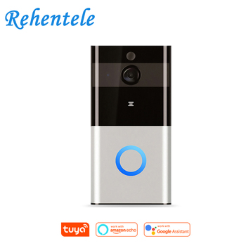 Alexa Google Full HD Wi-Fi Enabled Smart Video Tuya WiFi Ring Doorbell Remote Control Door Bell Wireless Tuya Smart Camera 1080P wi fi video smart doorbell with 2 ways audio and video sensor1280 x 720 field of view180 degree video hd 720p