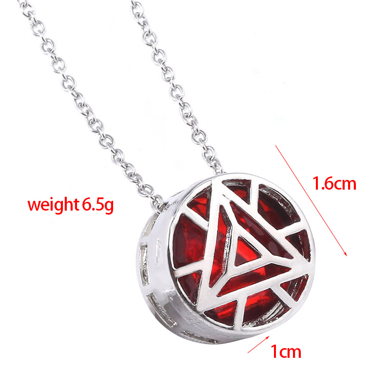 SG The Avengers Red Blue Mini Iron Man Heart Necklace Pendant I LOVE YOU 3000 Times Choker Girl Women Romantic Jewelry Gift in Pendant Necklaces from Jewelry Accessories