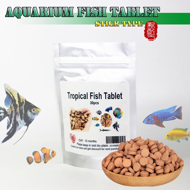 High protein Aquarium Fish Food FISH pieces TABLETS for tropical fish goldfish Discus MARINE fish Feeding fish pills healthy feed