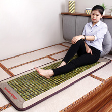 Fanocare Health Far Infrared Full Body Massage Thermal Therapy Heat Nephrite Mat Medical Natural Heating Jade Stone Mattress цена 2017