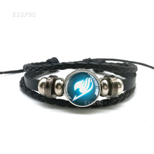 Black Leather Weave Multilayer Bracelet Fairy Tail Fate Stay Night Anime Game bracelet Saber Archer Assassin Rider Logo Cosplay цена и фото