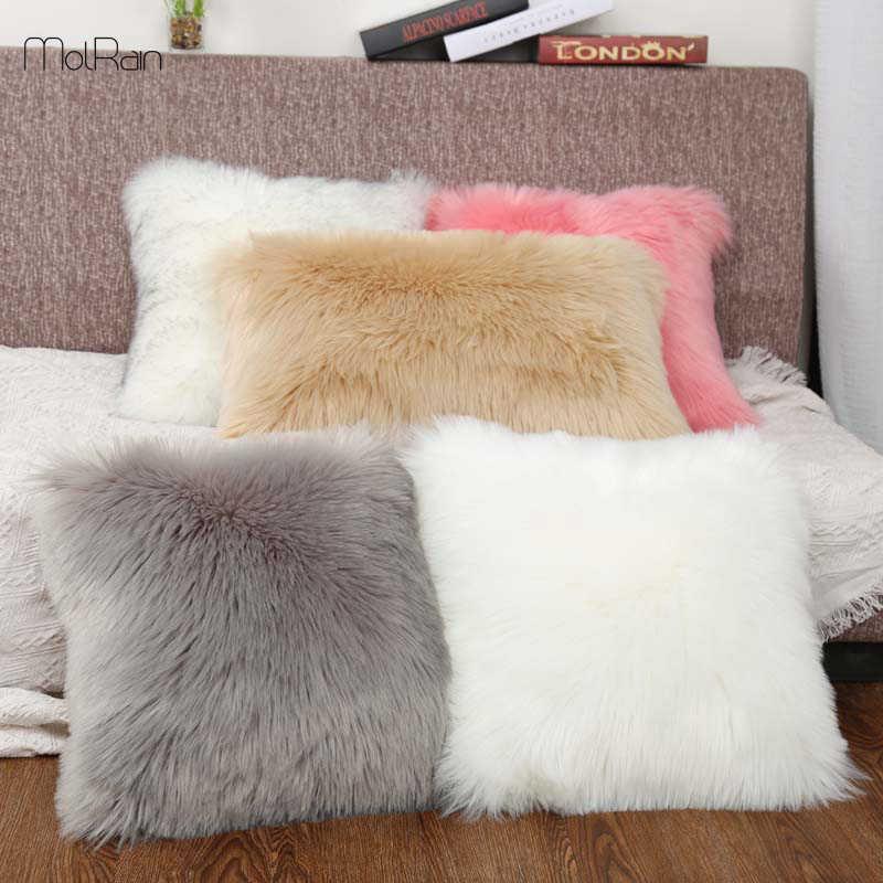 Bantal Empuk Wol Bantal Bulu Bantal Cover In Sofa Mewah Tempat Tidur Bantal Bantal Bulu Imitasi Bantal Hias Natal Kamar
