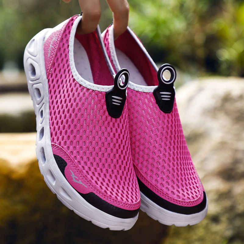 Damyuan erkek yaz rahat ayakkabılar 48 nefes çift ayakkabı 47 kadın sandalet taşınabilir örgü nefes yürüyüş botları 46