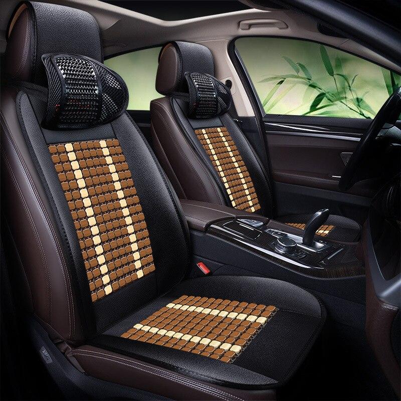 Бамбуковая Автомобильная подушка для сиденья летняя крутая Подушка дышащее сиденье с треком синий светодиодный Rui Cheng CC Tiida логотип 408CX 3