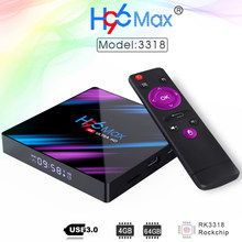 H96 MAX RK3318 Smart TV BOX Android 9.0 4GB 64GB Quad Core 4K LED Screen 2.4G/5G Wifi Bluetooth Set Top Box 2G 16G TV Stick(China)
