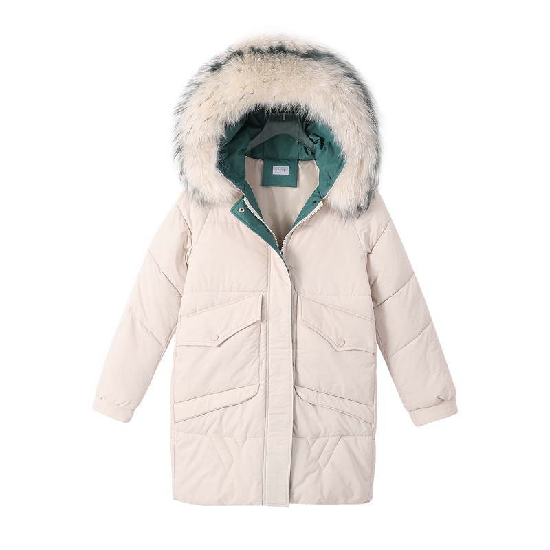 Hot sale Down   parka   winter of 2019 Korean version fashionable large-haired collar down cotton clothing 905