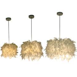 Индивидуальная Скандинавская Минималистичная Люстра для спальни, столовая люстра с перьями, теплая мини-люстра принцессы
