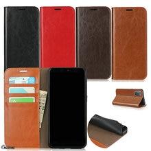 אמיתי עור מקרה עבור Coque Samsung Galaxy A42 A21S A31 A51 A71 A41 A21 A01 A50 A30 A50S A40 A10 stand כיסוי ארנק Funda תיק