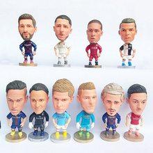 Estrelas de futebol 6.5cm bonito figuras de ação de futebol plástico pvc clube jogador brinquedos para meninos meninas lembrança fãs presente aniversário