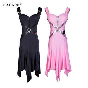 CACARE Latin Dance Dress Women BIG DEAL Latina Salsa Latin Dance Competition Dresses D0686 Irregular Hem 2 Choices