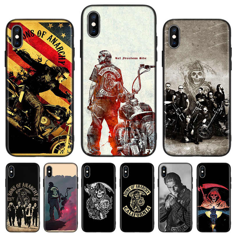 American TV Sons of Anarchy Black Back Cover Phone Case For Apple IPhone 11 Pro XS MAX XR 7 8 6 6S Plus X 10 Ten 5 5S SE Coque S