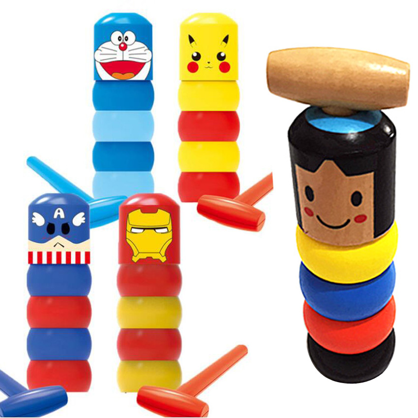 1 Set Of Immortal Dharma Indestructible Wooden Man Magic Toy Magic Skill Stage Prop Comedy Psychological Fun Accessories