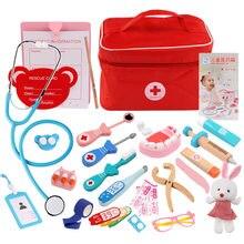 Juego de médico de madera para niños pequeños, Set de simulación de Doctor, kits de Cosplay, juguetes educativos para niños y niñas