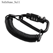 Tough Motorcycle Helmet Lock with Black Combination Pin Locking Carabiner Device