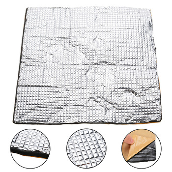 1Pc 300*300*10mm Foil Self-adhesive Insulation Cotton Heating Bed Insulation Mat Cotton For 3D Printer Heating Bed Sticker image