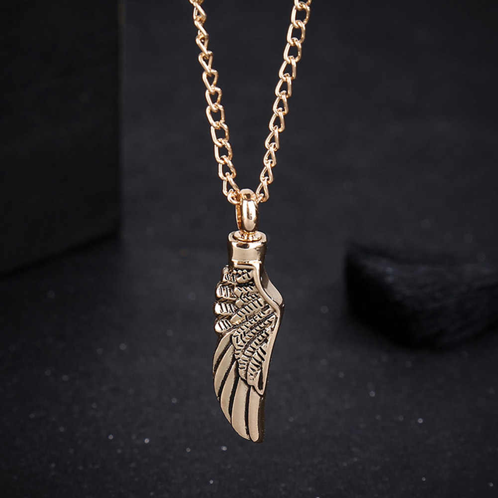 Gorąca skrzydła anioła biżuteria może otworzyć urna dla zwierząt wisiorek naszyjnik