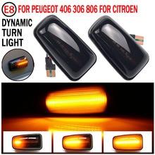 Flashing Car Turn Signal Lamps Side Marker Lights Lateral LED For Peugeot 306 106 406 806 Citroen XM ZX Break Xsara Xantia Fiat