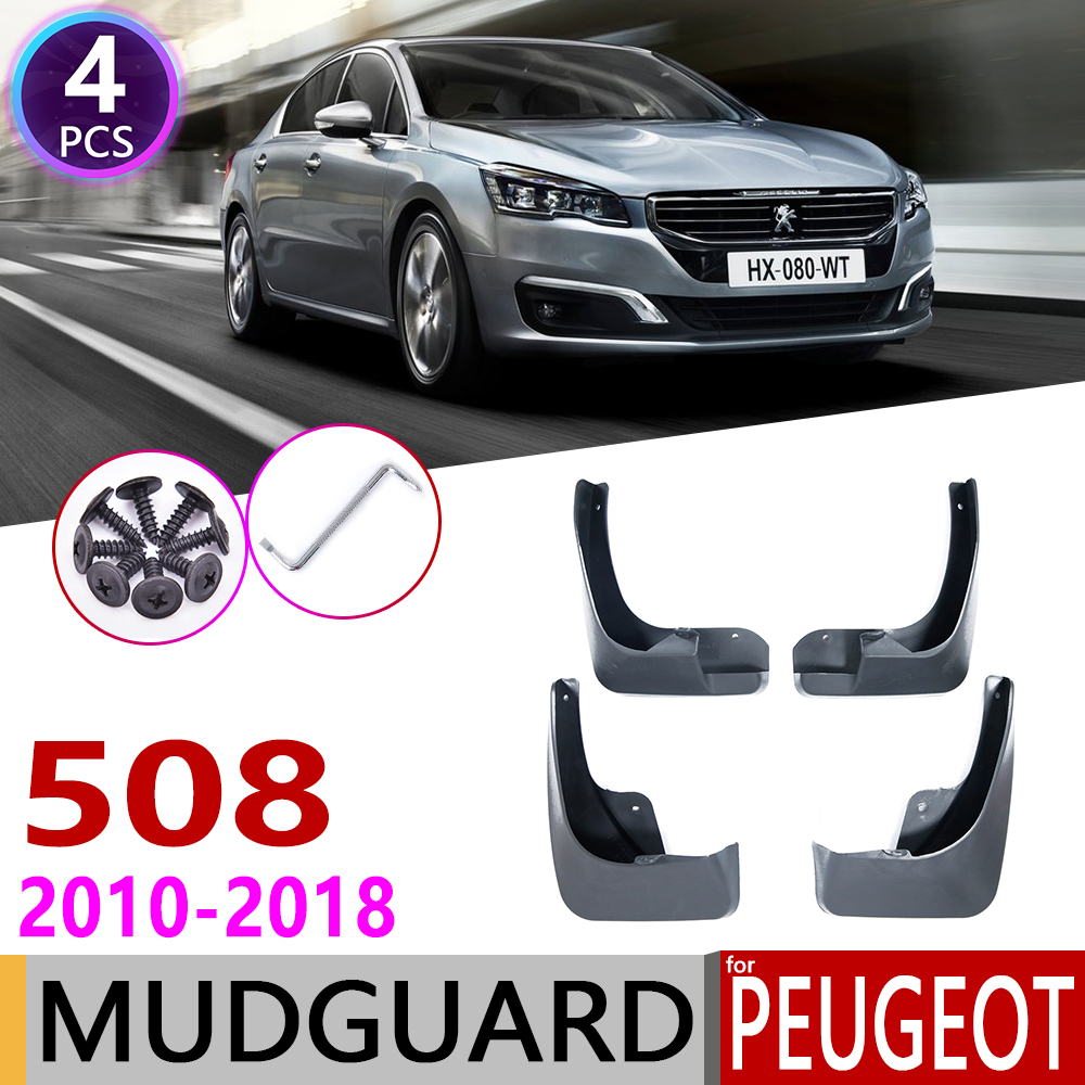 Mudflap for Peugeot 508 SW 508SW 2010 2018 Fender Mudguards Mud Guard Splash Flap Accessories 2011 2012 2013 2014 2015 2016 2017