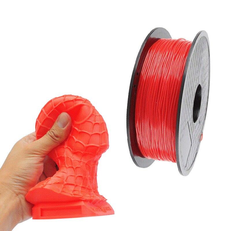 O filamento flexível de tpu do filamento da impressão 3d filamentos para a impressora 3d 1.75mm materiais de impressão preto branco etc cores