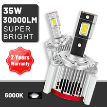 Carlitek D1S D2S D3S D4S D5S D8S LED Headlights 30000LM High Bright D1R D2R D3R D4R 6000K CSP Chip Canbus Decoder 2PCS Car Light
