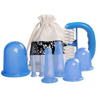 8 шт. силиконовые банки вакуумные Cuppings банок для средства ухода за кожей Шеи массаж лица при помощи присосок Antis антицеллюлитный массажер баночный набор