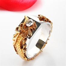 S925 Sterling Silver Diamond Ring for Men Fine Bijoux Femme