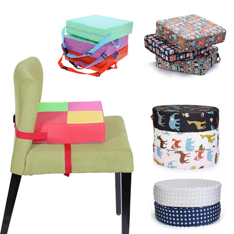 Removable Children Increased Chair Pad Adjustable Baby Furnitur Booster Seats Polyester Soft Sponge Kids Dining Pram Chair Mat
