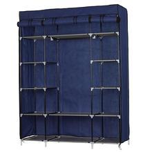 Fabric Wardrobe Organizer 5 Layer 12 Compartment Non-woven Fabric Wardrobe Portable Closet Navy 133x46x170cm Free Shipping #2W
