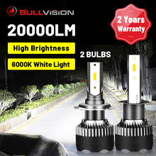 BULLVISION H8 LED reflektor 20000LM para chipy CSP H4 H11 H7 H9 9005 9006 HB3 HB4 lodu żarówka automatyczna maszyna do reflektor przeciwmgielny 12V 6500K tanie tanio enjoynight CN (pochodzenie) For bmw toyota audi mazda Ford honda golf nissan 12 v 6500 k For bmw e92 golf mk3 bmw e39 bmw e60 bmw e90 audi a3 8p Ford focus 3