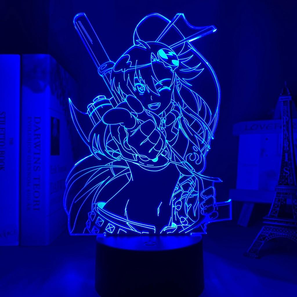 H4466d8e36ba84b699242effcbec516a7i Luminária Anime gurren lagann yoko luz conduzida da noite para o quarto decoração presente de aniversário noite lâmpada yoko littner luz gurren lagann gadget