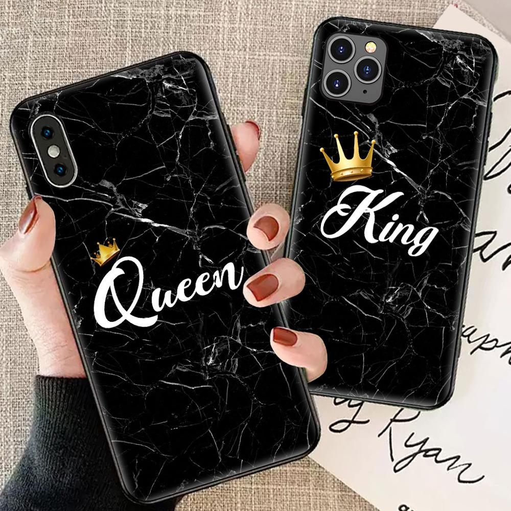 Queen King Phone Cover For iPhone X//Xs 8 Plus Couple Case