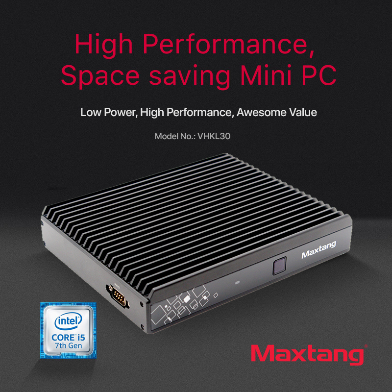 Maxtang i5 7200U Intel Core Mini PC Linux DDR4 Gigabit Ethernet minipc 300M WiFi 6xusb HDMI DP 4K HTPC NUC