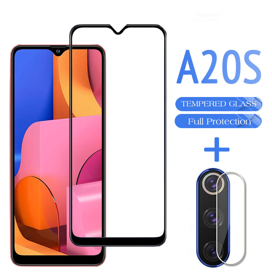 2 In 1 Camera Lens Glass On The For Samsung Galaxy A20s Tempered Glass For Samsun A 20 S E 20e Screen Protector Protective Glass