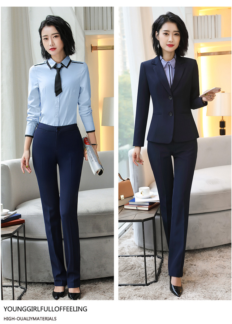 H44671d81db3e4f1fbf3f457c8e86736fX - Autumn Business Casual Long Trousers Women Solid Black Blue Red Formal Pants Office Ladies Work Wear Straight Suit Pant 4XL