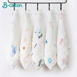 5 pçs toalha bebê recém-nascido toalha de banho do bebê algodão pano de arroto macio absorvente 6 camadas gaze crianças rosto bebê material musselina toalha