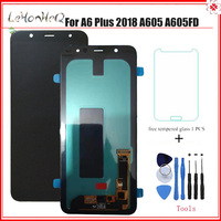 AMOLED LCD For Samsung Galaxy A6 Plus 2018 A6+ A605fd A605 LCD Display Touch Screen Digitizer Assembly For samsung A6+ A605 LCD