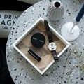 DUNXDECO деревянный поднос для хранения ключей, аксессуары, подстаканник, Современный художественный простой контейнер для украшения стола