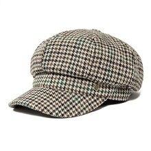 VOBOOM Swallow Gird Women Newsboy Cap Fall Autumn Herringbone Vintage Beret Caps Lady Hat 173
