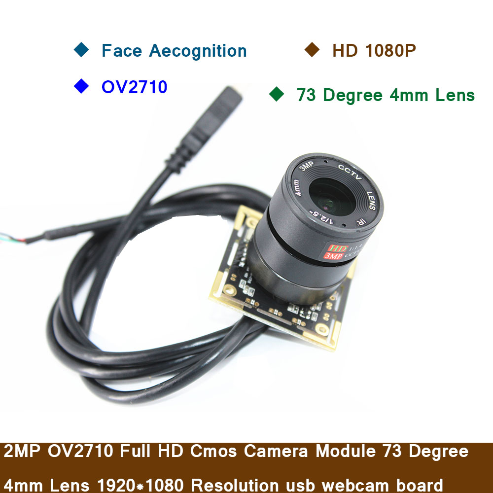 Face Aecognition 2MP OV2710 Full HD 1080P Cmos модуль камеры 73 градусов 4 мм объектив 1920*1080 Разрешение usb Панель для веб камеры