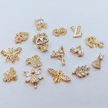 Роспись ногтей производители в настоящее время доступны поставка сплава циркония ногтей с кристаллами Двухслойный дизайн Настоящее золото поддерживает цвет гальванического