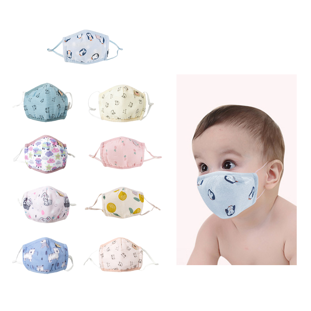 Child Boys Baby Cartoon Face Mask Anti-Dust Mouth Mask Washable Respirator Mouth Mask Cartoon Warm Breathable Mask Mouth Cover