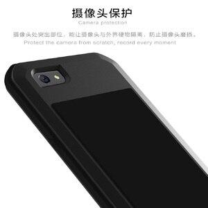 Image 2 - Чехол для телефона LOVE MEI для OPPO R9s Plus Armor спортивный Открытый Алюминиевый металлический жесткий защитный чехол для OPPO R9 Plus из закаленного стекла