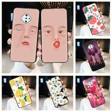 Cartoon Silicone Phone Case For VIVO V17/Y9S/X50 Lite Durable Anti-knock Beautiful matte For Girls(China)