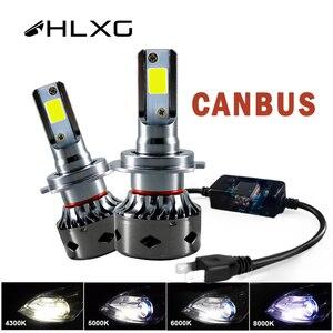 Image 1 - HLXG CANBUS h7 ha condotto il Mini H4 12V lampada 9005 HB3 9006 HB4 lampada 12000LM Luce del Faro Dellautomobile di H11 H1 h8 H9 6000K Lampadina