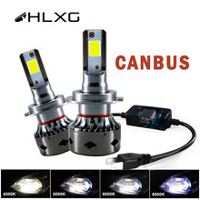 HLXG – Mini led H4 CANBUS h7, 12V, lampada 9005 HB3 9006 HB4, lampe 12000LM, phare de voiture, ampoule H11 H1 H8 H9 6000K